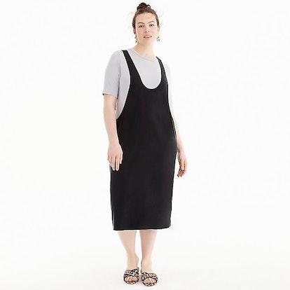 Universal Standard for J.Crew Cupro layering tank dress