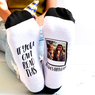 If You Can Read This… Personalised Photo Socks by Solesmith