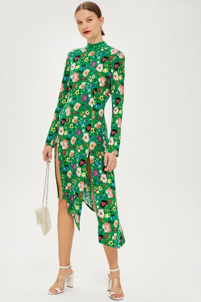 Floral Chuck On Midi Dress