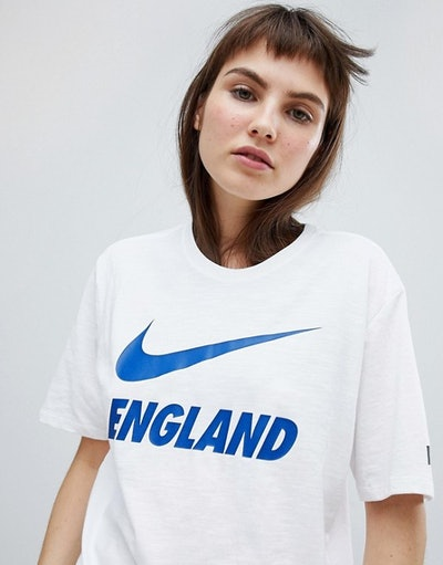 Nike Football England Swoosh Logo T-Shirt