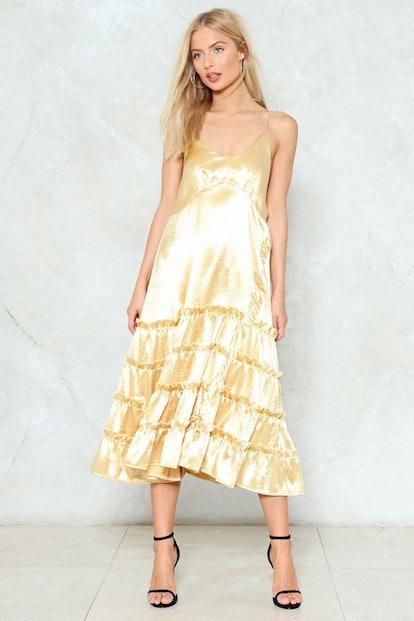 Belle of the Ball Satin Dress
