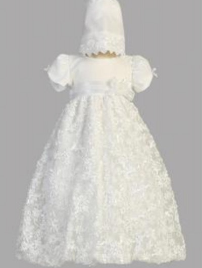 Girls Tulle Christening and Baptism Gown