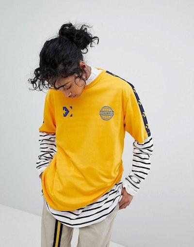 Converse Colourblock Football T-Shirt