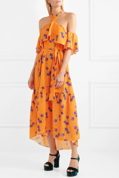 Borgo De Nor Josephine Cold Shoulder Floral Print Maxi Dress