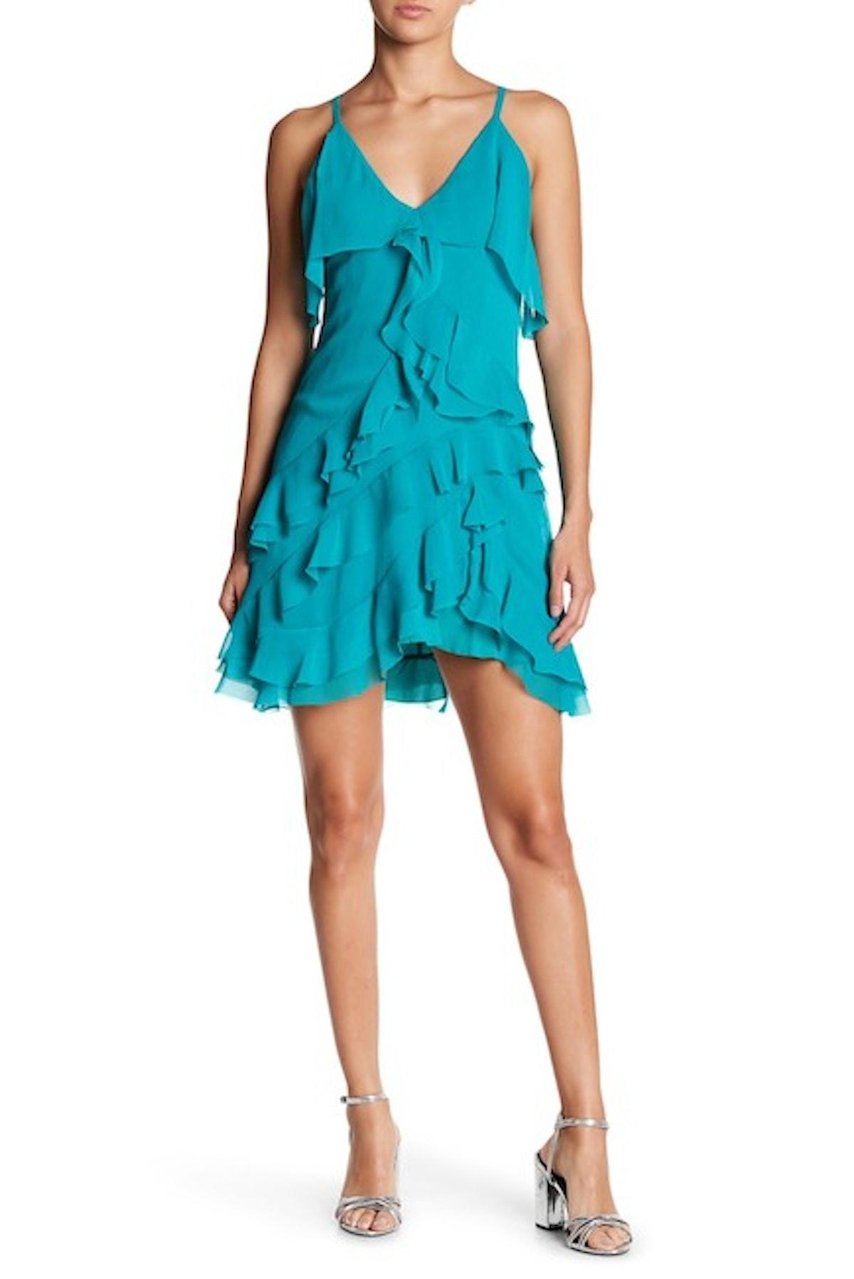 alice + olivia Lavinia Short Ruffle Dress
