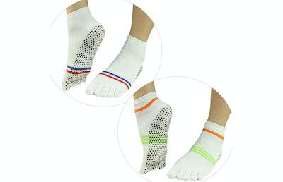 J'Colour Non-Slip Yoga Socks