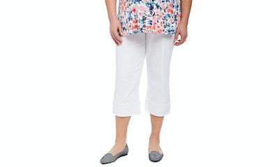 Motherhood Plus Size Skinny Leg Maternity Crop Pants