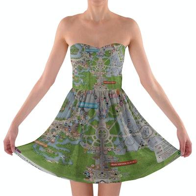 Magic Kingdom Map Disney Dress
