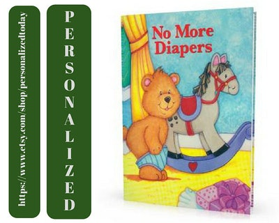 No More Diapers Customized Child's Name Potty Training Book