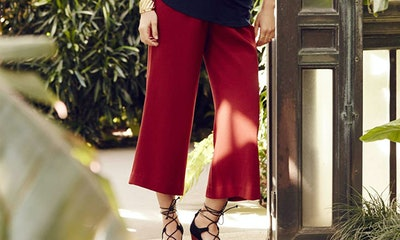 A Pea in the Pod Secret Fit Belly Crepe Culotte Maternity Pants