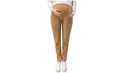 Foucome Straight Leg Corduroy Trousers