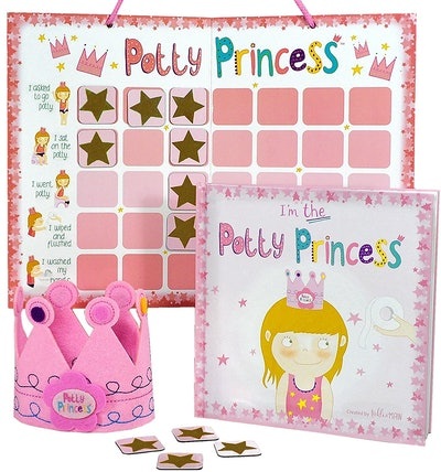 Princess Potty Training Gift Set with Book, Chart, Magnets, and Crown