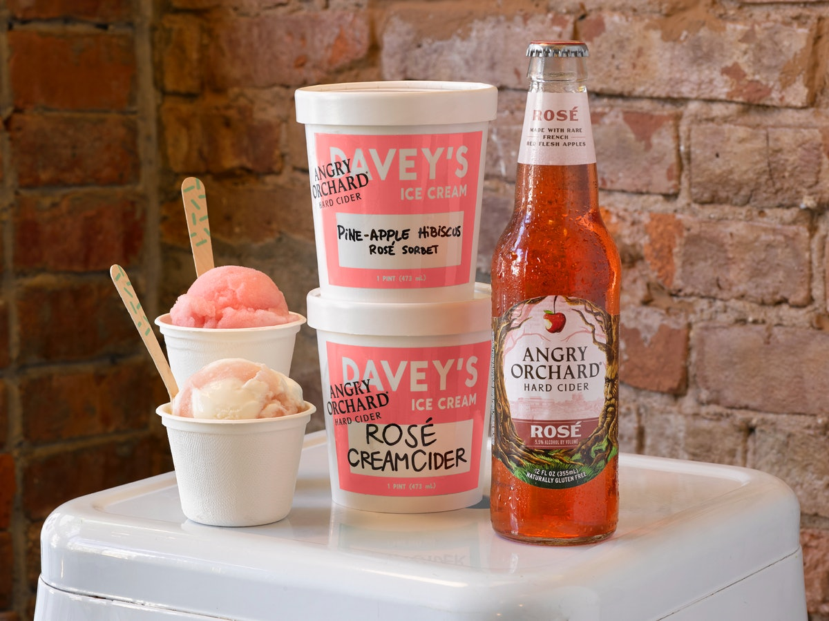 You Can Get Boozy Ice Cream That Tastes Like Angry Orchard Rosé At This Shop