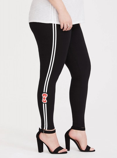 Sanrio Hello Kitty Black Bow Stripe Legging