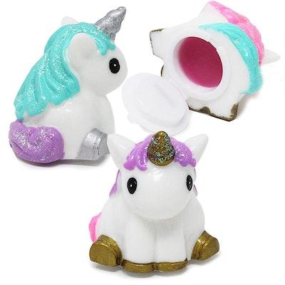 Joyin Toy 3 Pack Cute Unicorn Shape Girls Lip Gloss