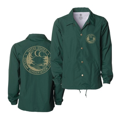 Conservation Corps Vintage Logo Coaches Jacket