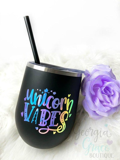 Unicorn Vibes Insulated Stainless Steel Tumbler