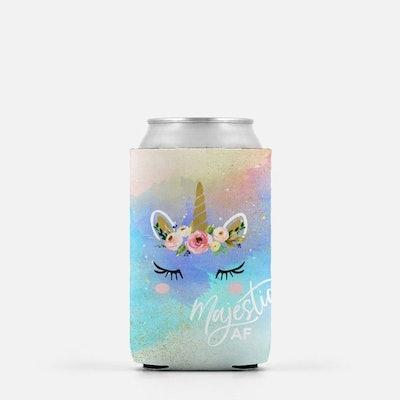 Majestic AF Unicorn Can Cooler