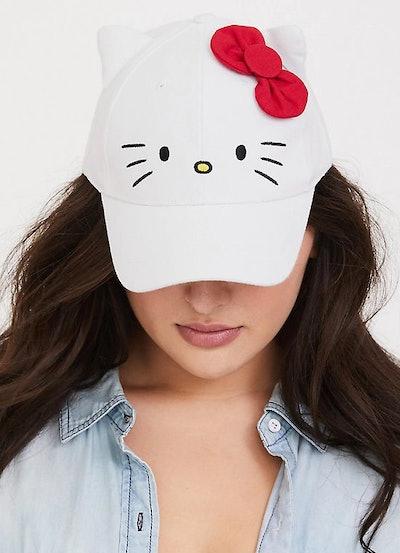 Hello Kitty White Baseball Cap