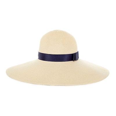 J By Jasper Conran Cream Straw Floppy Hat