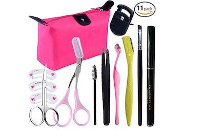 Aooher Tweezers and Scissors Set for Eyebrows