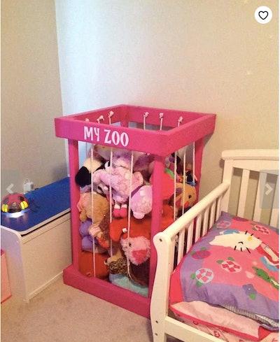 Stuffed Animal Zoo Toy Storage
