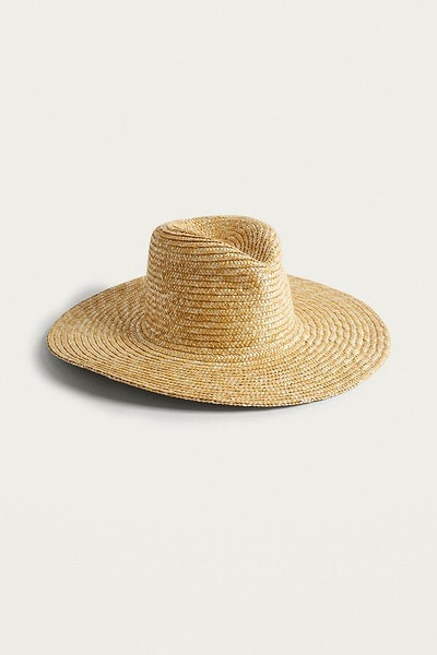 High Crown Straw Panama Hat