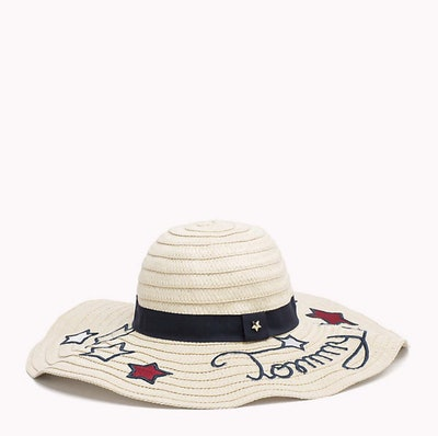 Star Embroidery Straw Hat