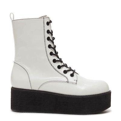 Rage Cali White Platform Boot