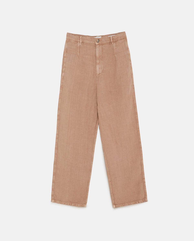 FADED LINEN PANTS