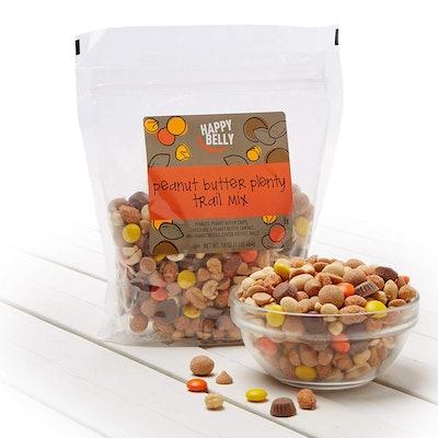 Happy Belly Amazon Brand Peanut Butter Plenty Trail Mix, 16 ounce
