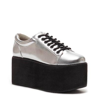 Acid Rock Silver Platform Sneaker