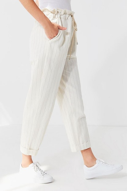 UO Eve Paperbag Striped Pant