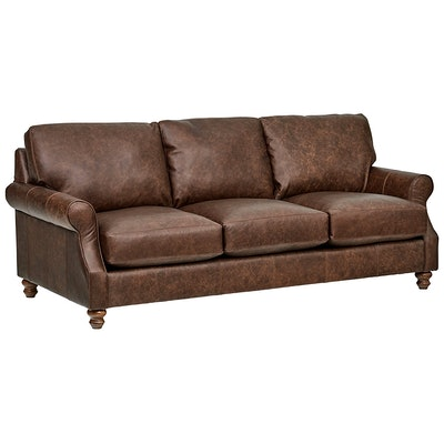 Stone & Beam Charles Classic Oversized Leather Sofa