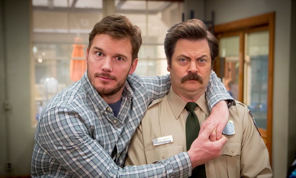 chris pratt 39 s gift to 39 parks and recreation 39 co star nick offerman is proof that andy ron. Black Bedroom Furniture Sets. Home Design Ideas
