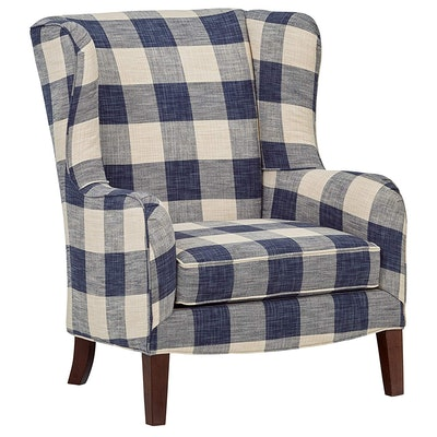 Stone & Beam Sadie Buffalo Check Wingback Chair