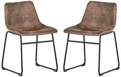 Rivet Mid-Century 2-Pack Microfiber Chairs