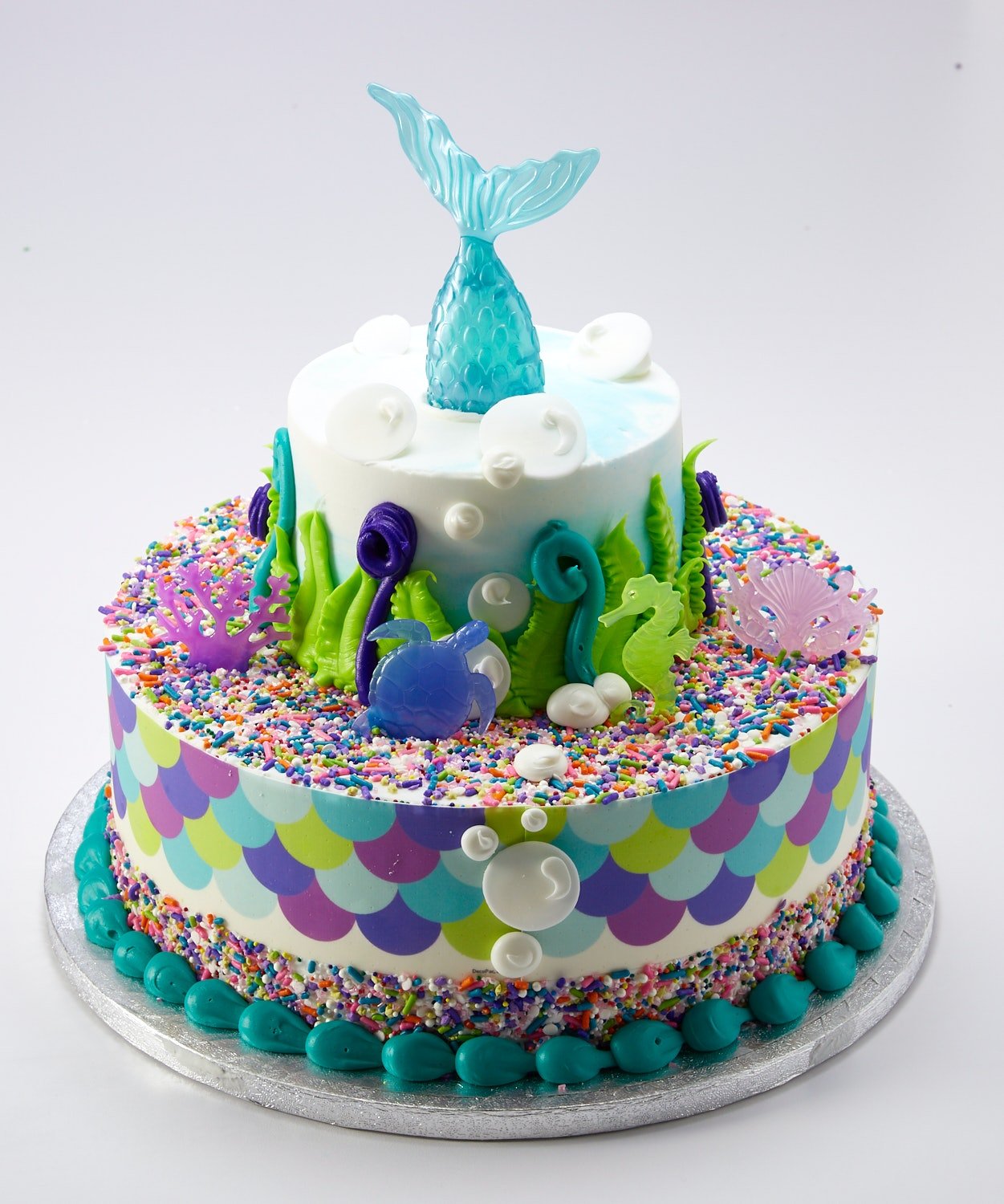 Incredible This 3 Tier Mermaid Cake From Sams Club Feeds 66 People And Costs Personalised Birthday Cards Paralily Jamesorg