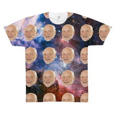 Custom Photo Face Shirt in Space
