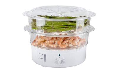 Classic Cuisine Vegetable Steamer Rice Cooker — 31% Off