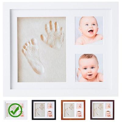 Little Hippo Handprint-Footprint Keepsakes Photo Frame