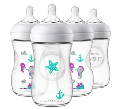 Philips Avent Natural Baby Bottle with Seahorse Design