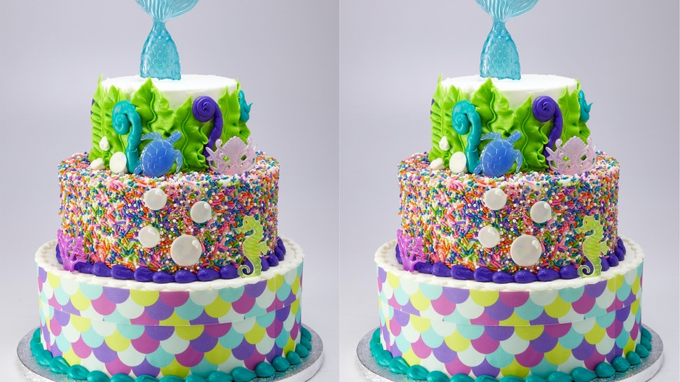 Miraculous This 3 Tier Mermaid Cake From Sams Club Feeds 66 People And Costs Personalised Birthday Cards Paralily Jamesorg
