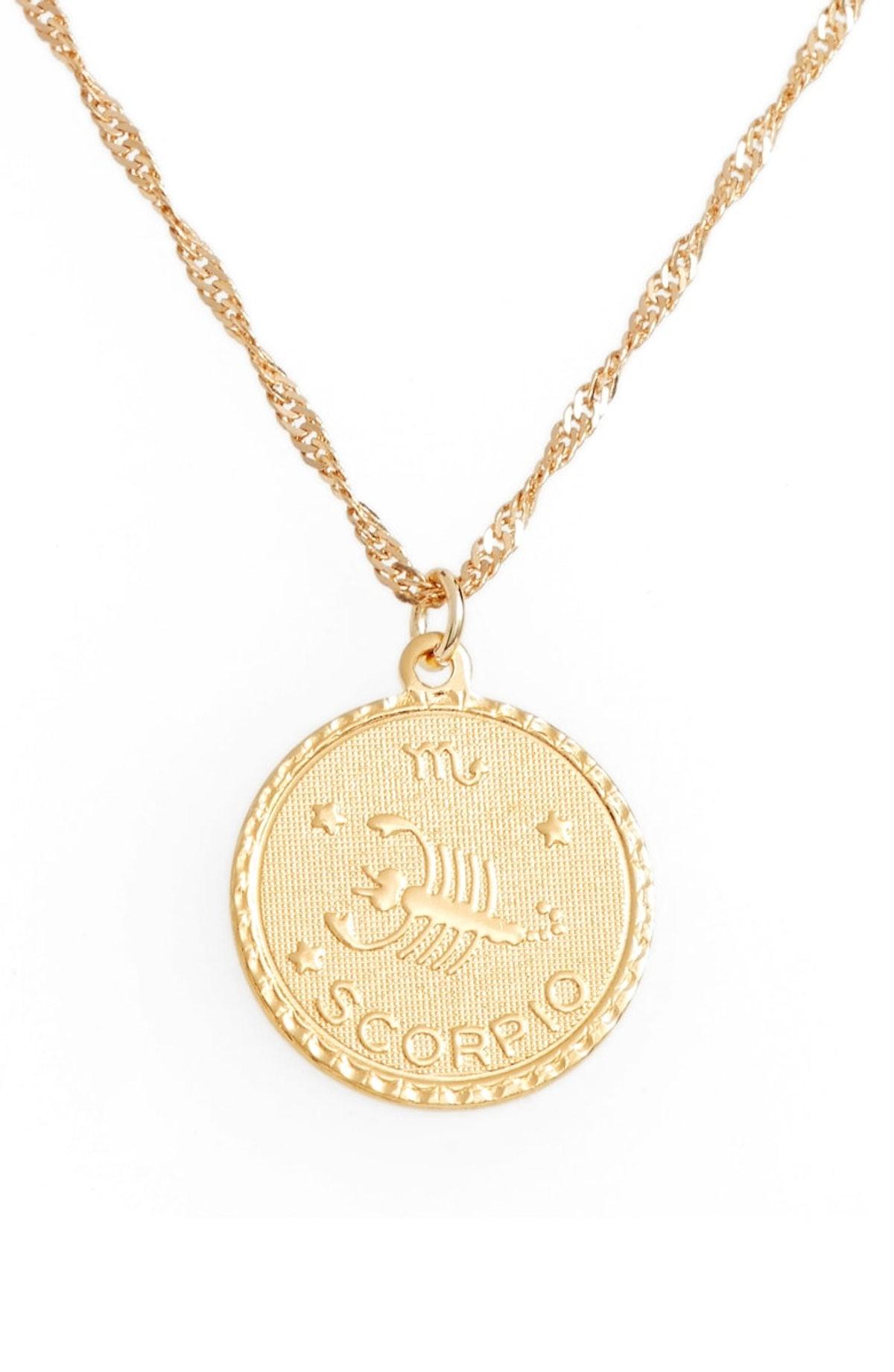 Ascending Zodiac Medallion Necklace