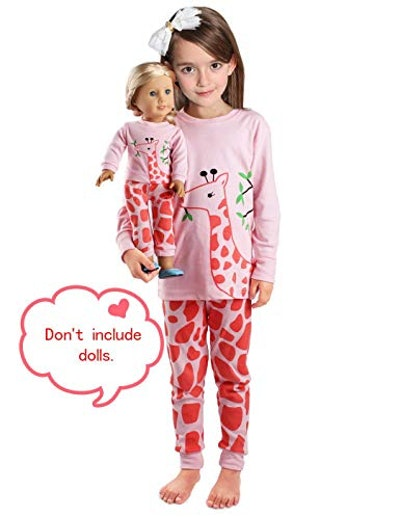 Girls Matching Doll&Toddler OWL 4 Piece Cotton Pajamas Kids Clothes Sleepwear