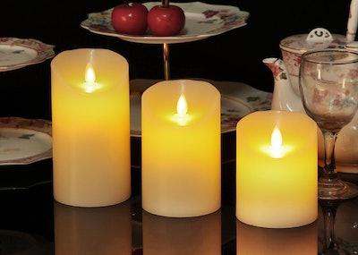 OShine Set Of Three Flameless Candles — 72% Off
