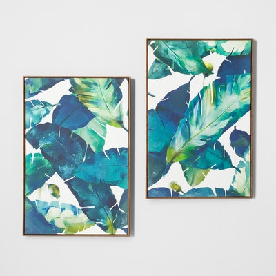 Tropical Palm 2pk Framed Wall Canvas