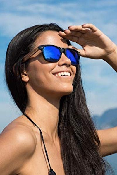 Woodies Zebra Wood Sunglasses