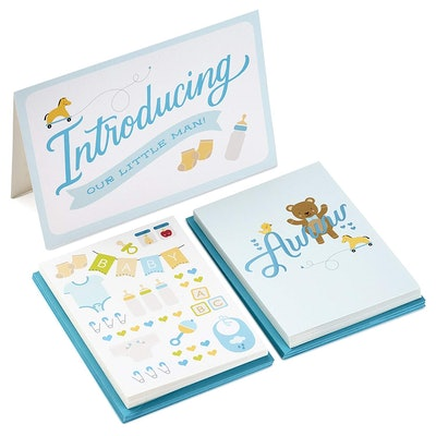 Baby Boy/Girl Stationery and Announcement Set