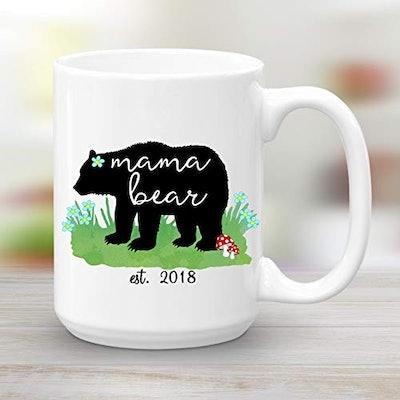 Mama Bear Est. 2018 15 Oz. Ceramic Coffee Mug